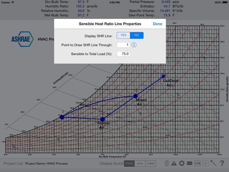HVAC Psychrometric Chart screenshot-3