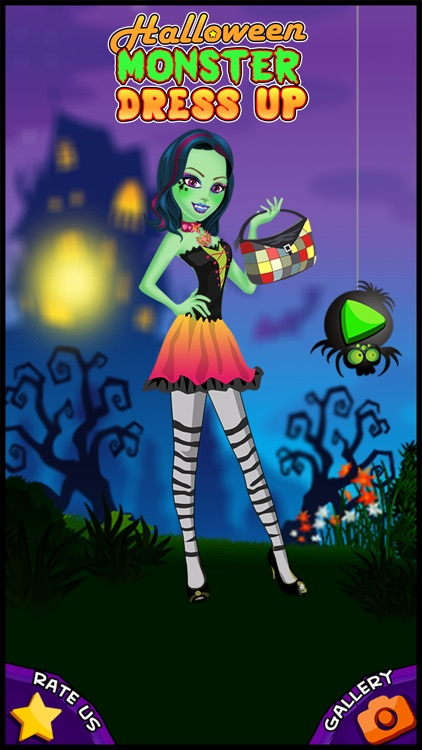 A Monster Make-up Girl Dress up Salon - Style me on a little spooky holiday night makeover fashion party for kids screenshot-3