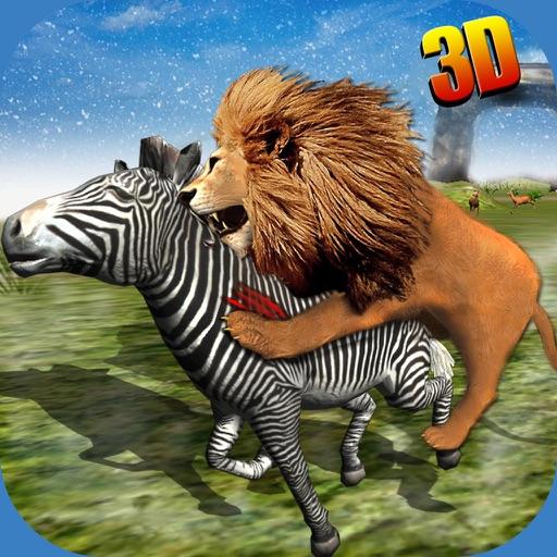 Wild African Lion Sim 3D - Real Safari King Hunting Deer on