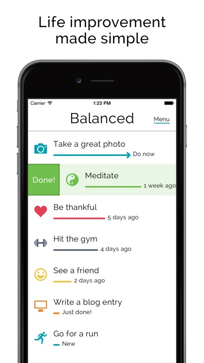 Balanced - Habits tracker & life goals motivation screenshot-0