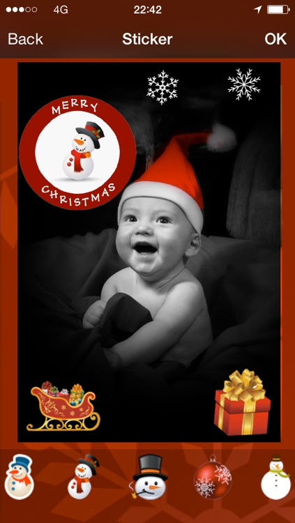 Christmas card : photo, sticker and greeting card
