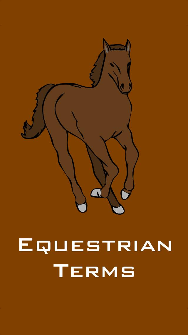 Equestrian Terms screenshot one