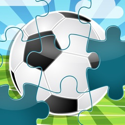 A Sportsball Jigsaw Puzzle for Pre-School Children with Soccer Players