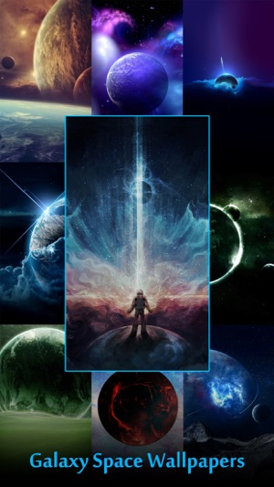 Galaxy Space Wallpapers U0026 Backgrounds   Custom Home Screen Maker With HD  Pictures Of Astronomy U0026 Planet 4+