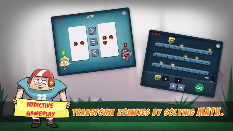 Math Vs Zombies - Math Games Grade K - 5 screenshot-3