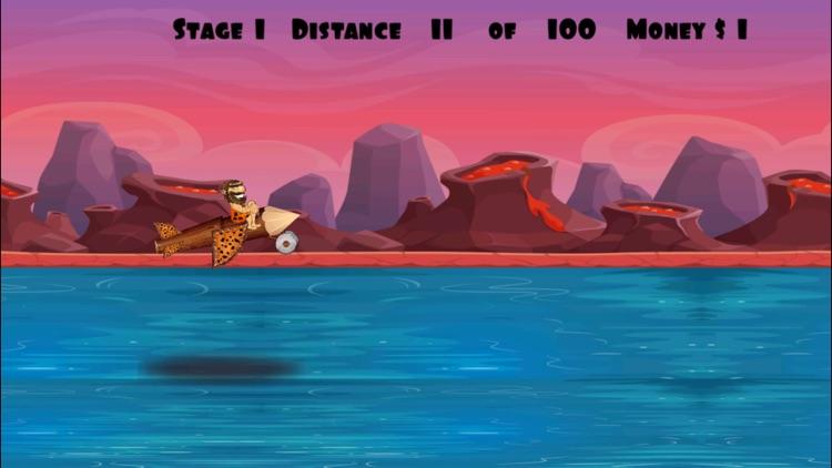 A Caveman Flying Game FREE - Troglodyte Flight Adventure screenshot-4
