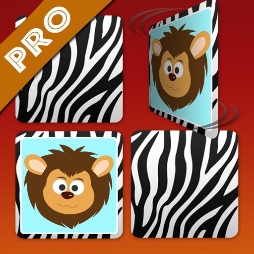 Wildlife Safari Cartoon Memo Puzzle Pro