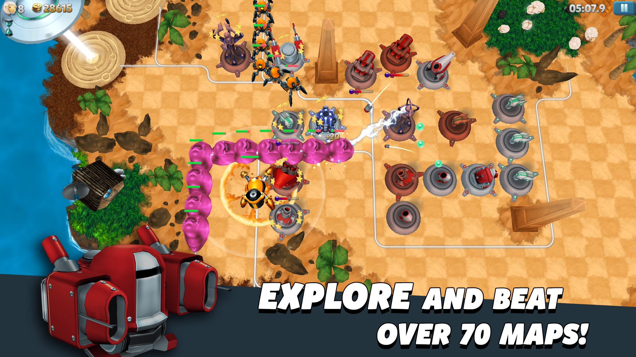 Screenshot do app Tower Madness 2: #1 in Great Strategy TD Games