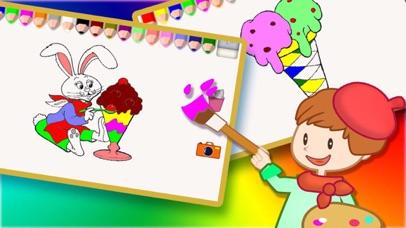 塗色繪本 9 - 寶寶 幼兒給冰淇淋塗色屏幕截圖2