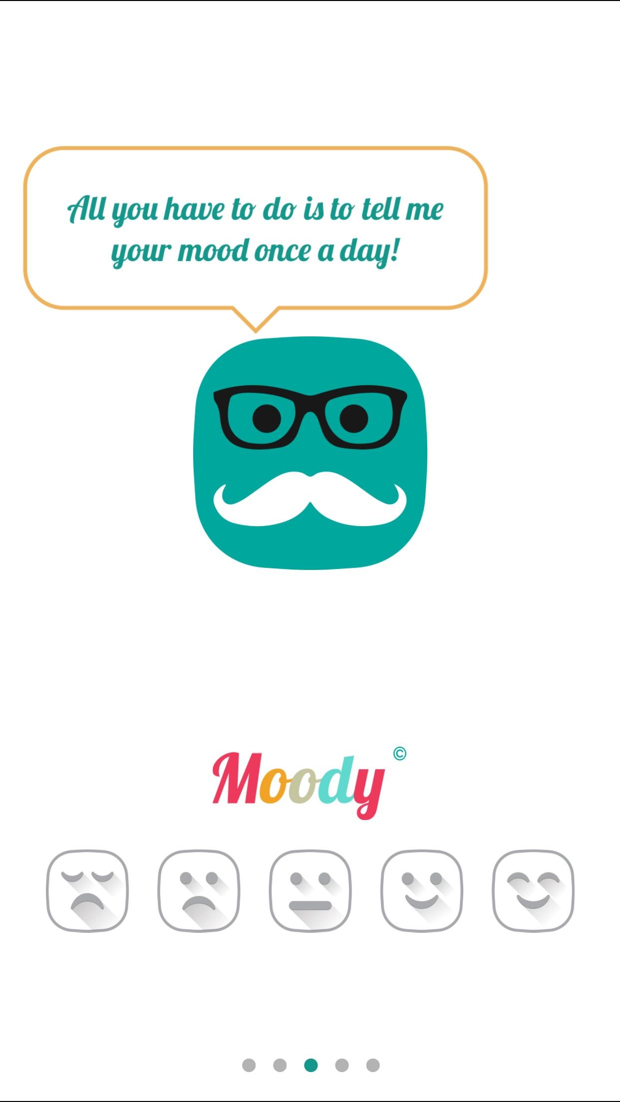 Screenshot do app Moody - Daily Mood Tracker