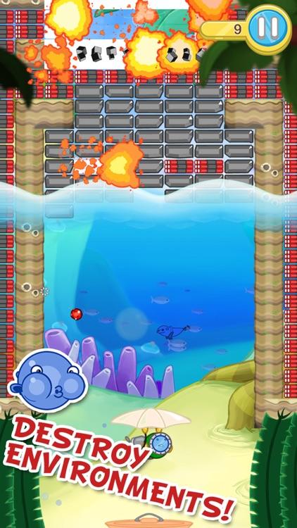 Blowfish Meets Meteor: A Brick-Breaker Adventure screenshot-3