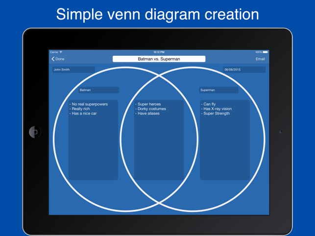 Venn diagram maker easy venn diagrams on the app store ipad screenshots ccuart Image collections