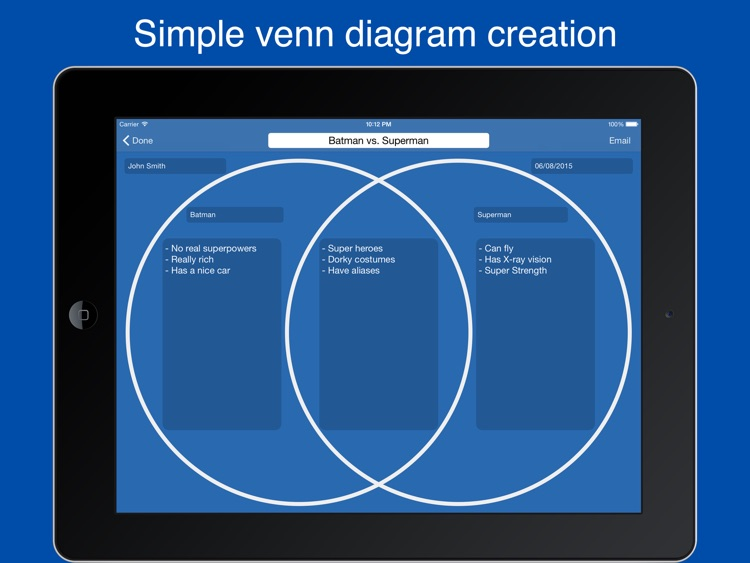 Venn Diagram Maker Easy Venn Diagrams By Nicholas Madole