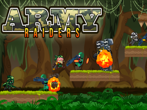 Army Raiders - War Battle of Soldiers in the Wilderness-ipad-0