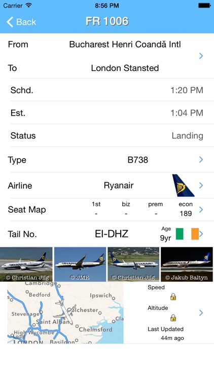 London Stansted Airport - iPlane Flight Information