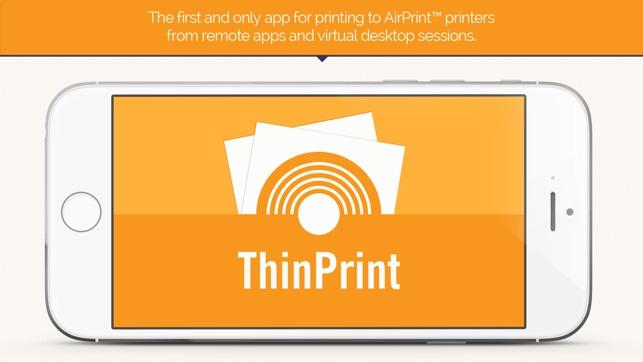 ThinPrint Mobile Print - Remote App and Virtual Desktop