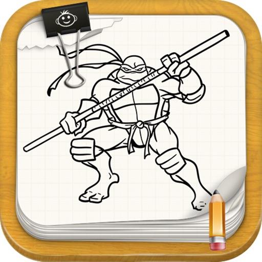 Learn To Draw : TMNT Ninja Turtles