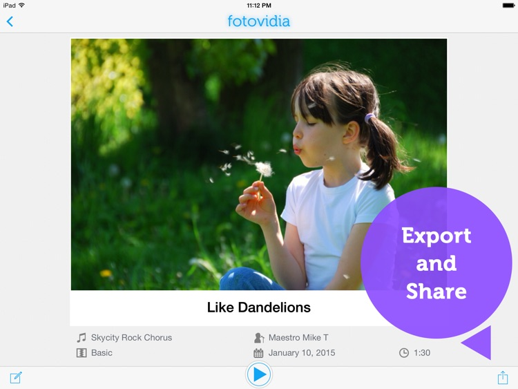 fotovidia hd: slideshow video maker from photos and music screenshot-3