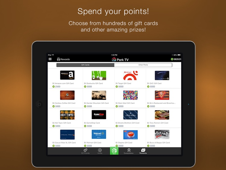 Perk TV - Get Gift Card Rewards by Watching Videos screenshot-4