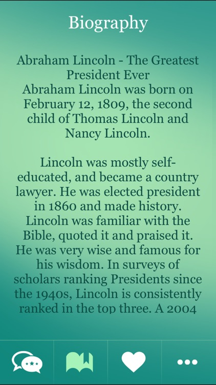 Abraham Lincoln Great Thoughts screenshot-3