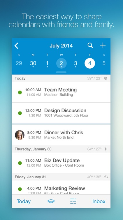 UpTo Calendar - Syncs with Google Calendar, iCloud, Outlook and more