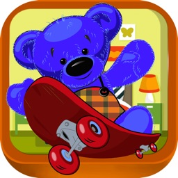 Teddy Bear Heart Couple - Stuffed Toys Skateboard Adventure (Free)
