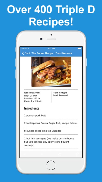Fan App for Diners, Drive-Ins and Dives