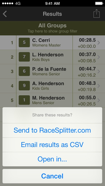 RaceSplitter — Race & split timer for event organizers and coaches screenshot-4