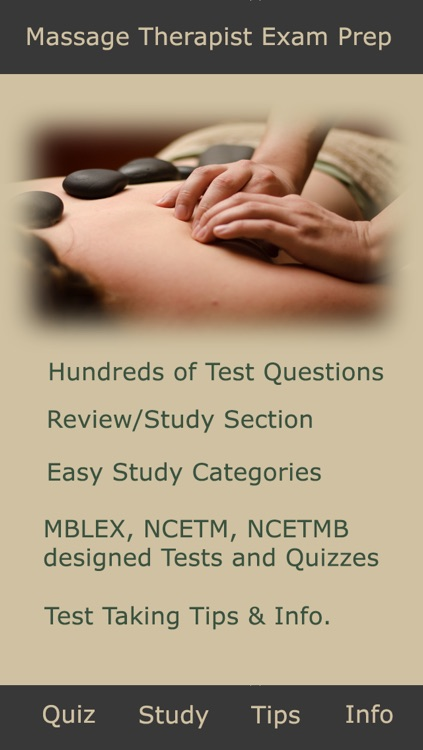 Massage Test & Exam – MBLEx,NCETM,NCETMB