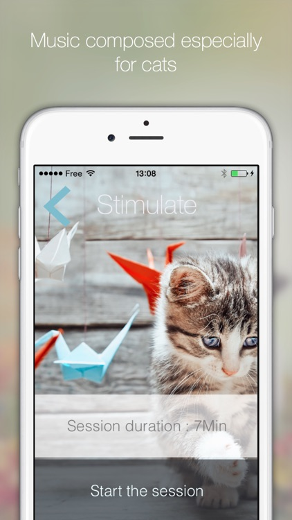 Cat Relax: A musical atmosphere for relaxation or stimulation of your cat. Have fun watching your cats react to the music composed for them screenshot-3