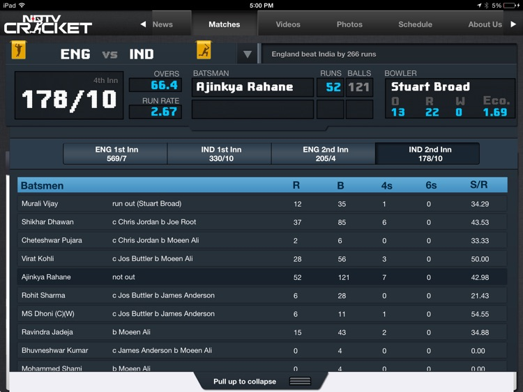 NDTV Cricket for iPad screenshot-4