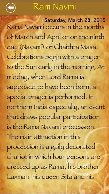 Festivals and Holy Days