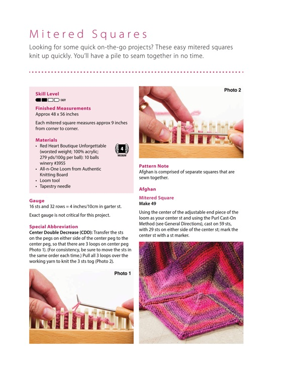 Bed Runners for Knitting Looms - Step by Step for iPad