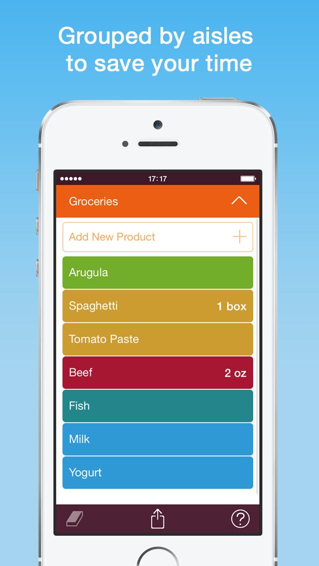 Organizy - Shopping List (Grocery List) screenshot