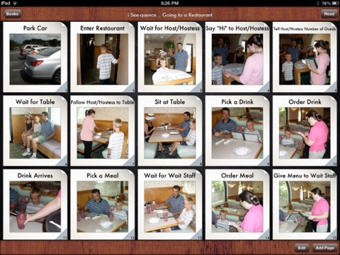 i Get    Going to a Restaurant Vocabulary Photo Books and Social Stories |  App Price Drops