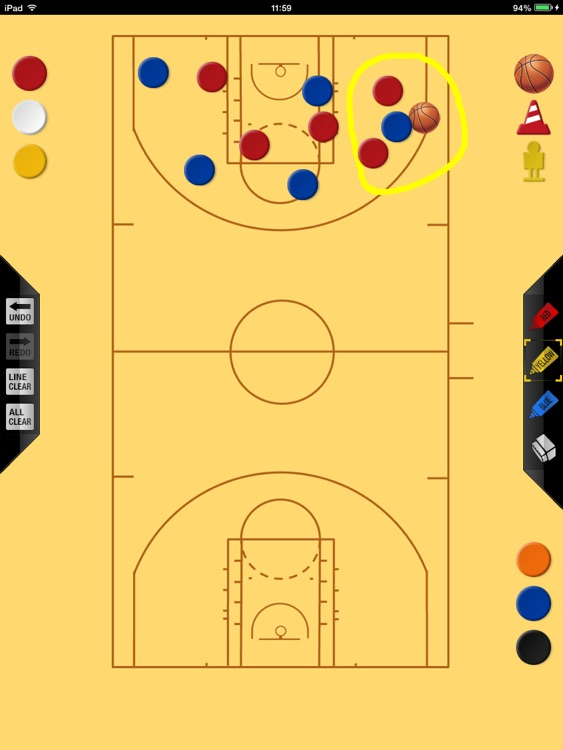Basketball strategy board free version screenshot-3