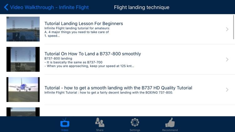 Video Walkthrough for Infinite Flight