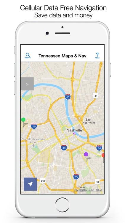 Tennessee Offline Maps & Offline Navigation screenshot-0