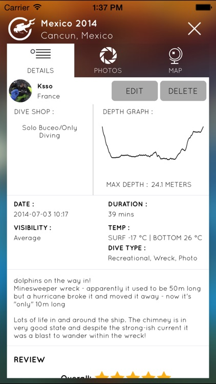 Diveboard screenshot-1