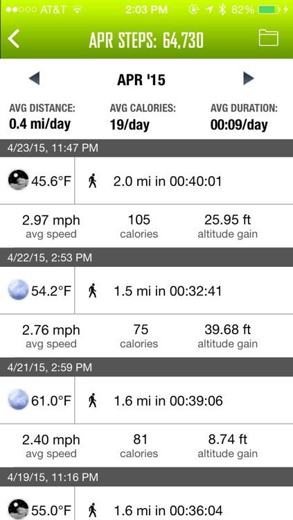 WeatherRun: Cycling, Walk, Hike Tracker, Altimeter- using Barometer, logger with Pebble Watch, Heart Rate monitor, M8 Motion Steps screenshot-3