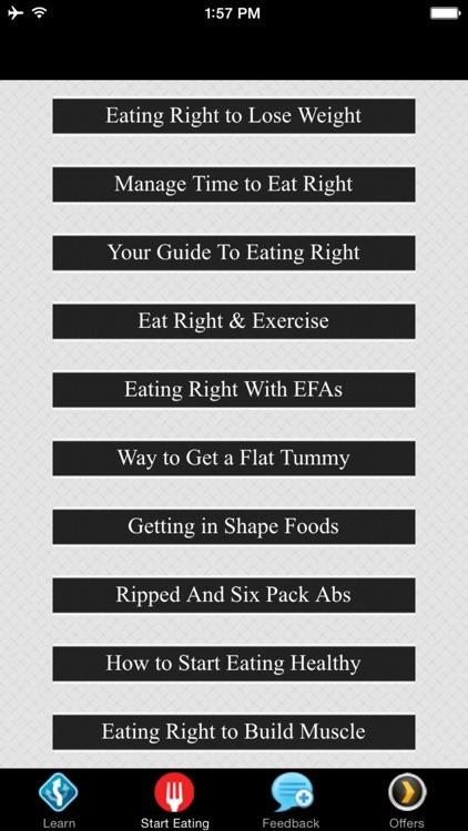 Start Eating Right - Eat Right & Exercise