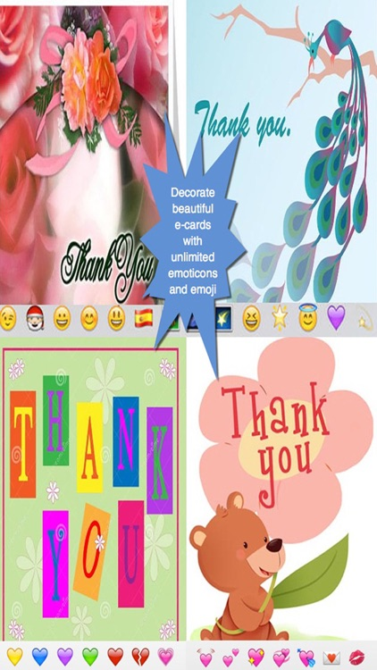 Thank You Cards Maker -  Customise and send Thank You eCards with beautiful pictures,photo editor,best quotes,voice recording and emoji (Lite)