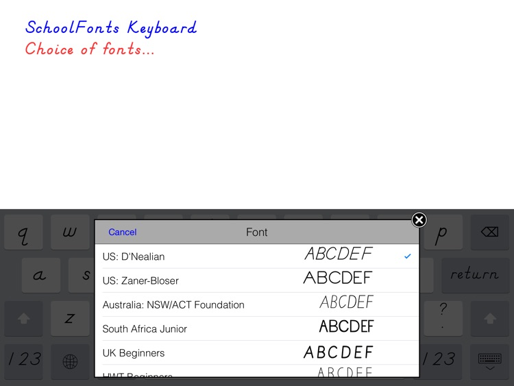 SchoolFonts Keyboard - Lowercase and Uppercase screenshot-3