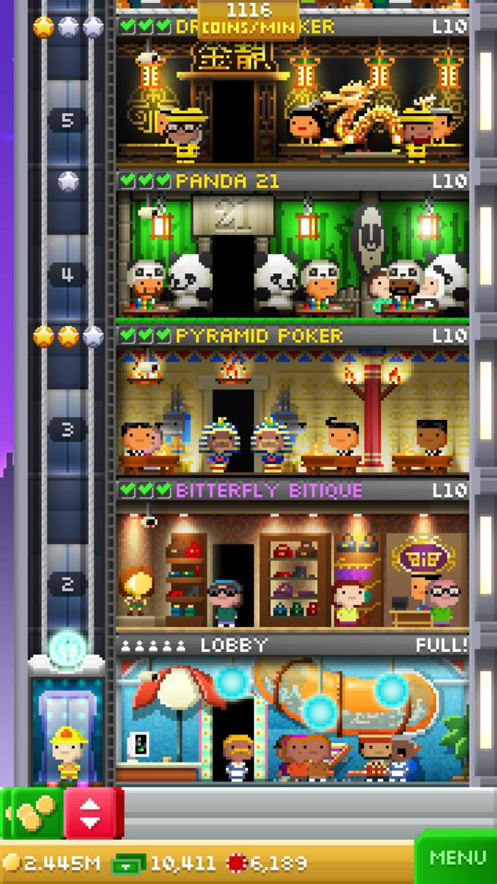 Tiny Tower Vegas Screenshot