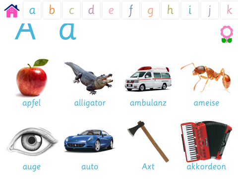 Alphabet und Wortschatz-Buch für Kinder (Wörterbuch für Kindergarten und Vorschule)-ipad-3