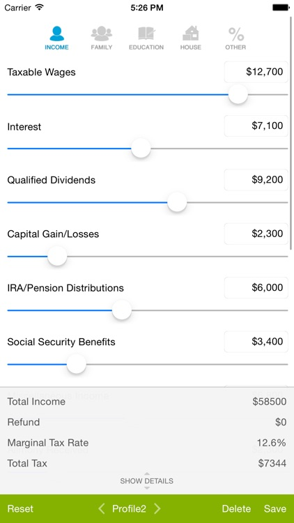 Tax Calculator - Quick Estimate of your 2014 Tax Refund screenshot-0