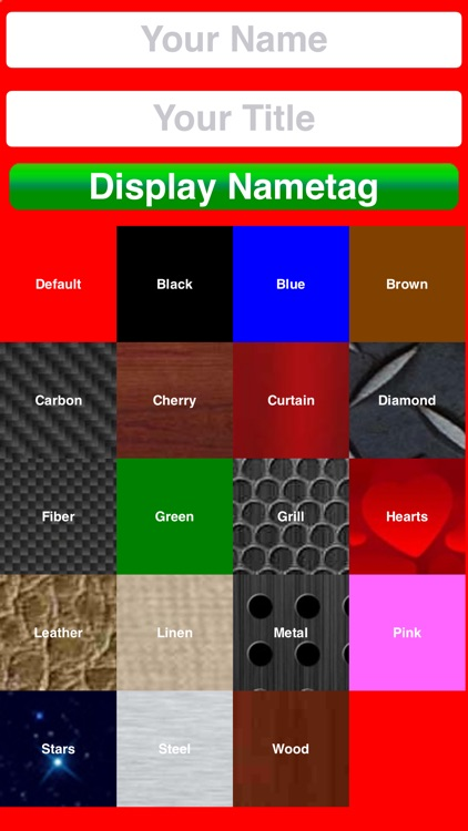NAMETAGGER Fun, Funny NameTag w/ Name & Title! Landscape, Portrait & Watch Modes