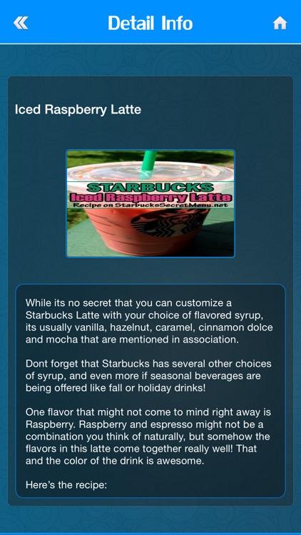 Secret Menu for Starbucks Fans screenshot-4