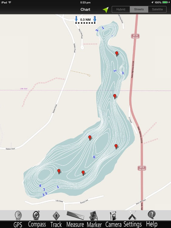 Wisconsin Lakes GPS Charts Pro screenshot-2