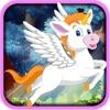 点击获取Rainbow Unicorn Jump Race - Jungle Horse Bounce Rush Free
